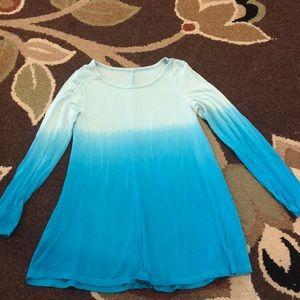 Girls blue ombré long sleeve top